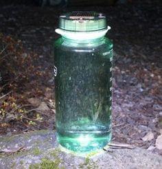 LED Solar Lightcap For Water Bottles   $29.95