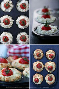 muffin alla feta e pomodorini! semplicemente adorabili!!