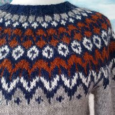Icelandic Sweaters, Ankle Jewelry, Knit Tops, Jumpers, Knitting Projects, Knitted Hats, Knitwear, Blanket, Patterns
