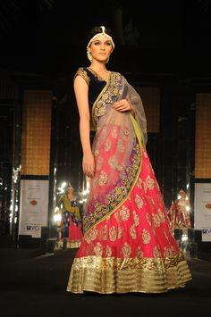 Vikram Phadnis new 2015 lehenga Indian style for girls. New Indian stylish Lehenga 2015 has been launched recently for women. Vikram Phadnis is very famous Indian Bridal Outfits, Indian Bridal Wear, Pakistani Bridal, Indian Dresses, Indian Clothes, Bridal Lehenga, Bridal Dresses, Bengali Wedding, Desi Clothes