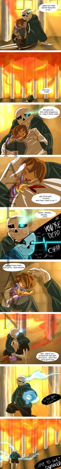I love when Sans and Frisk have a father and daughter like relationship ;-; it gives me LIFE