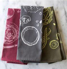 Spruce up your kitchen with Belle & Union Co.'s Farmer's Market tea towel set.