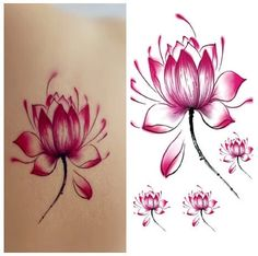 Cheap art cooking, Buy Quality art pirate directly from China art cardboard Suppliers:	Waterproof Temporary Tattoo Stickers Cute Pink Red Lotus Flowers Design Body Art for Woman Girls Sex Products Makeup To