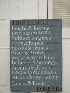 Family Rules...