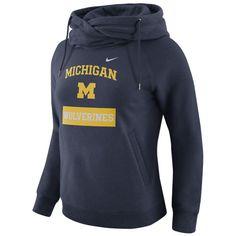 Nike University of Michigan Ladies Navy