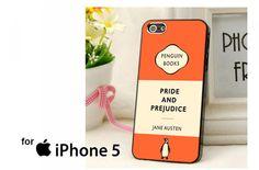 Penguin Books Pride and Prejudice Case for iPhone 4/4S/5/5S/5C,Samsung Galaxy S2/S3/S4