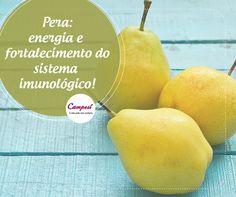 Você gosta de peras? Porque temos ótimas notícias sobre esta fruta: ela conta com as vitaminas C, A e do complexo B, traz energia para o seu dia e ainda ajuda o sistema imunológico contra várias doenças. #dicaCampesí