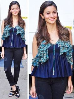 Alia Bhatt In Diesel Denim At K and S promotions | #Celebrities #AliaBhatt #Bollywood