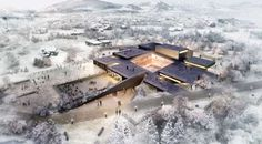 Image 1 of 24 from gallery of ArchiPlan Wins Competition to Design Kim Tschang-Yeul Art Museum. Photograph by ArchiPlan Museum Architecture, Architecture Visualization, Architecture Graphics, Architecture Board, Architecture Drawings, Landscape Architecture, Landscape Design, Architecture Design, Chinese Architecture