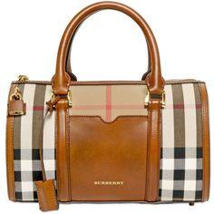 BURBERRY Medium Alchester Bridle House Check Bag found on Polyvore Purses  And Handbags, Fashion Handbags 29d29f3cbe3