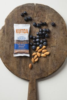 "Blueberry Almond Bars. Handcrafted from whole fruit, raw nuts, and seeds. Gluten Free + Vegan + Non-GMO Certified + No Added Sugar or Preservatives. www.KUTOA.com, save 20% with CODE ""Pinterest20"""