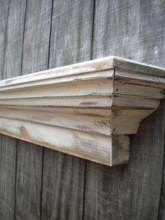 Distressed Wooden Wall Shelf Shabby Chic Floating Ledge Mantle - The Mistletoe…