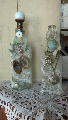 Altered bottles with locket