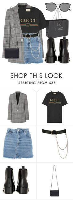 """My love, he makes me feel like nobody else..."" by hope-valerie ❤ liked on Polyvore featuring Alexander Wang, Gucci, Topshop, Wet Seal, Acne Studios, Cuero&Mør and RetroSuperFuture"