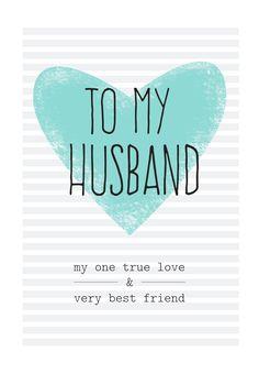 Free Printable Husband Greeting Card