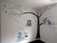 Kids Room Wall Decals, Kids Room Paint, Room Stickers, Mural Wall Art, Boys Room Decor, Baby Boy Rooms, Baby Bedroom, Little Girl Rooms, Baby Boy Nurseries