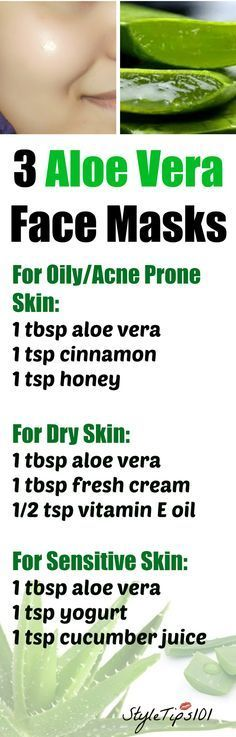 These 3 aloe vera face masks for every skin type will leave your skin radiant and glowing! No matter if you have acne prone, oily, dry, or sensitive skin, aloe vera has amazing medicinal properties that can cure even the most stubborn skin problems. Aloe Vera For Face, Aloe Vera Face Mask, Aloe Face, Aloe Vera Skin Care, Beauty Care, Beauty Skin, Beauty Hacks, Beauty Tips, Diy Beauty