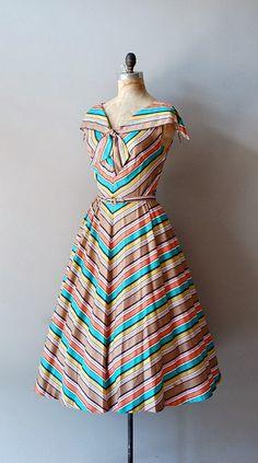 Colorful Cotton Belt Dress