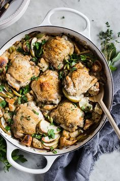 One Pot Chicken and Stuffing