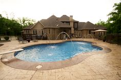 Fox Pool with deck jets for added interest.