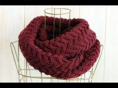 Scarf Knitting Pattern - Hướng dẫn đan khăn kiểu xương cá - YouTube