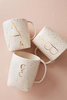 Shop Anthropologie Gilded Shapes Monogram Mug on ShopStyle.com