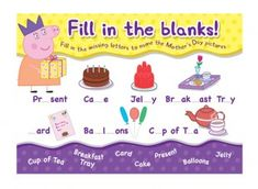 Peppa Pig Fill in the Blanks Activity for Children  iChild.co.uk
