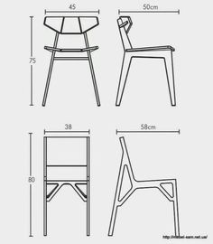 Ideas For Wood Table Design Modern Metal Chairs Zen Furniture, Folding Furniture, Furniture Projects, Furniture Design, Chair Design Wooden, Wood Table Design, Plywood Chair, Plywood Furniture, Architecture 3d