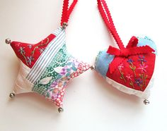 Embroidered Patchwork Ornaments