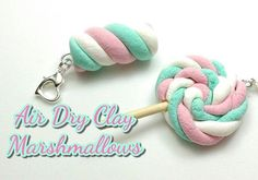 Hearty clay project tutorial marshmallows.Learn how to make these air dry clay marshmallows in this video tutorial by @andisacharms.