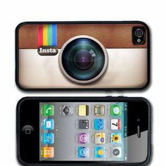 Cool Stuff - Instagram iPhone 4 case iPhone 4s Case Silicone Black or White Personalized with your name.