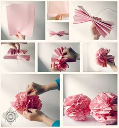 DIY Printing Paper Poms using Printing Paper instead of Tissue Paper which makes them more durable & reusable!