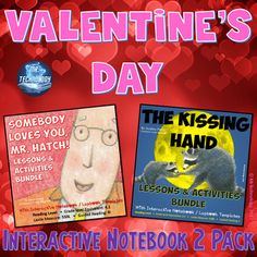 "Valentine's Day Interactive Notebook Reading 2 Pack ☝ Click the green ""Preview"" Button above to see a sampling of what's inside! Somebody Loves You, Mr. Hatch Differentiated Interactive Notebook Reading Lessons & Activities Bundle {CCSS-Aligned}"