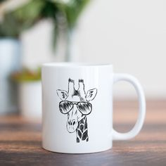 Wrought Studio Armwood Giraffe Coffee Mug Couples Coffee Mugs, Coffee Mug Sets, Mugs Set, Cappuccino Cups, Espresso Cups Set, Giraffe Mug, Le Creuset Stoneware, Cupping Set, Cup And Saucer Set