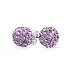 Lady Lavender Studs   Shop Bling Jewelry