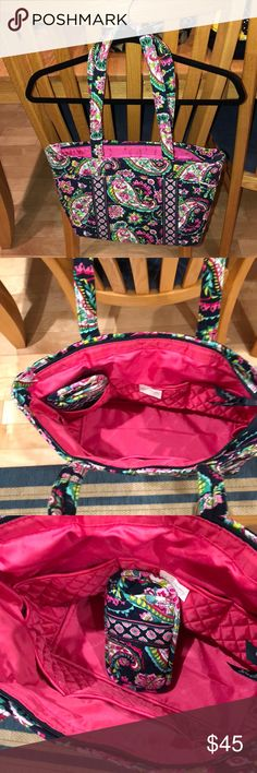 Vera Bradley Tote Purse with eyeglass case Vera Bradley Tote Purse with eyeglass case Vera Bradley Bags Totes