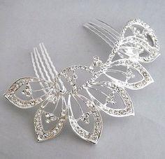 beautiful elegant wedding bridal hair comb  crystal  Rhinestone tuck Comb