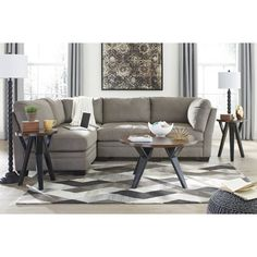 The Ashley Furniture Iago Sectional In Cobblestone At Local Furniture Outlet  Would Be A Great Item To Purchase In Austin, Texas.