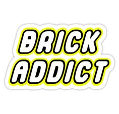 """""""BRICK ADDICT by Customize My Minifig"""" Stickers by ChilleeW 