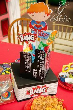 Favors at a Superhero Party #superhero #partyfavors