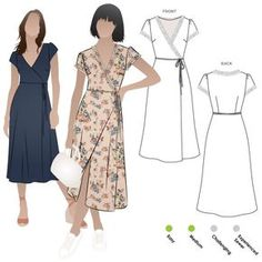 Sewing Dresses Annabelle Woven Dress Sewing Pattern By Style Arc - Woven wrap dress sewing pattern. Dress Sewing Patterns, Sewing Patterns Free, Free Sewing, Pattern Dress, Wrap Dress Patterns, Apron Patterns, Pattern Sewing, Sewing Clothes, Diy Clothes