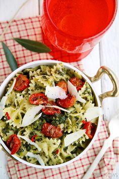 Garlic kale pasta recipe
