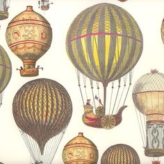 Hot Air Balloons Print Italian Paper ~ Tassotti