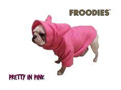 French Bulldog Boston Terrier Pug Dog Froodies Hoodies Pink Coat Sweatshirt #FroodiesHoodies
