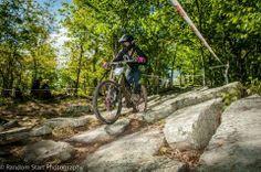 Styling in the rock gardens thanks to #billygoatbikes! #dirtyjaane @DirtyJane