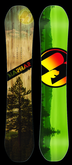 BOHEMIAN [All Mountain Powder Ripper] Featuring a high rise rocker, slimmer profile and aramid fiber, this deck is built for all mountain, back country, and powder-surfing madness. The rocker shape combined with our Attack Arc sidecut allows this board to be surfy, smooth and responsive. If you like to find your own path, lose yourself on the Bohemian. #marhar #snowboards #snowboarding #ride #graphic #design #tree #wood #madeinusa #handcrafted #unique #deck #sport