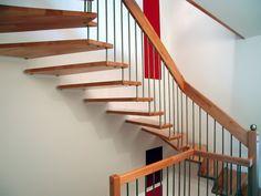 Freitragende Treppen ohne Wandwange http://www.tischlerei-kersting.de