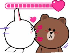 MIS CREACIONES 2018: Gif Beautiful Love Pictures, Cute Love Gif, Cute Cat Gif, Bunny And Bear, My Teddy Bear, Cute Teddy Bears, Love Cartoon Couple, Cute Love Cartoons, Calin Gif