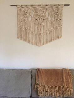 A lovely tribute to the mountain town of Polluck Pines, in Northern California, this macrame piece captures the serene beauty of the town in the best way that I know how to...through lots and lots of knots and love! This big beauty is made from the softest 6mm 100% cotton rope and