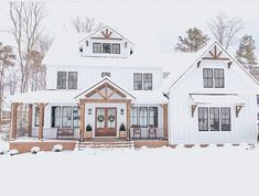 what dream house exterior country farmhouse porches is - Br House, House With Porch, Modern Farmhouse Exterior, Farmhouse Style, Farmhouse Windows, Farmhouse Ideas, Farmhouse House Plans, Farmhouse Decor, Farmhouse Addition